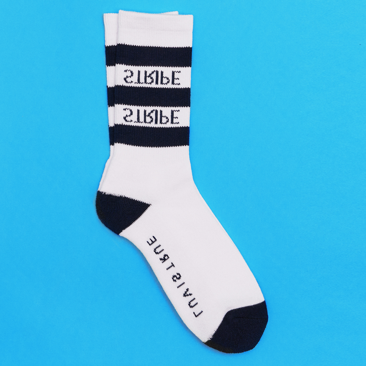 (UNISEX)SC STRIPE SOCKS_NV