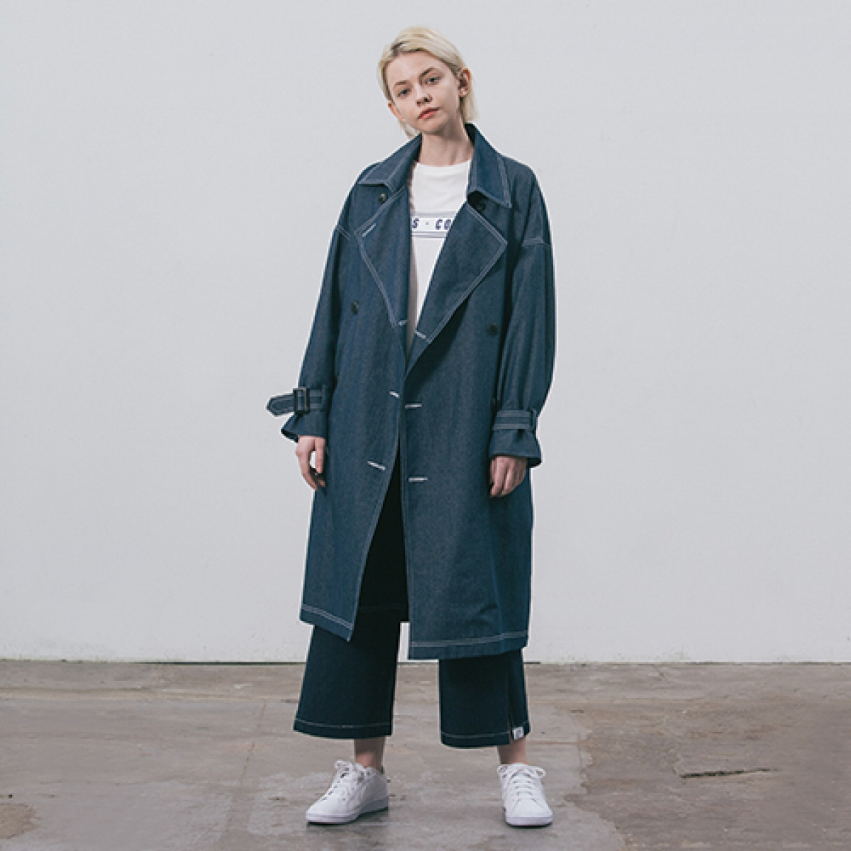 LI DENIM TRENCH COAT_NV