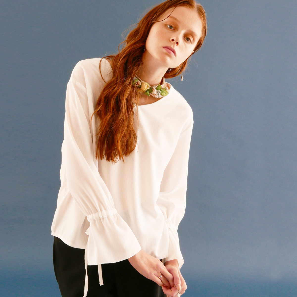 WZ STRING BLOUSE_WH