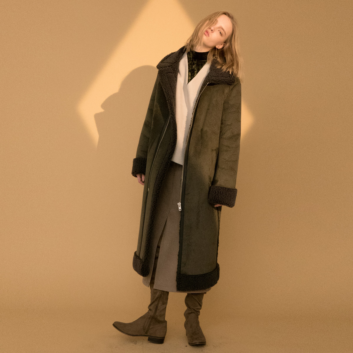 LD LONG MUSTANG COAT_KH
