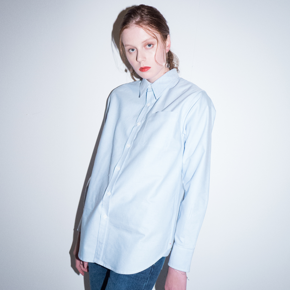 L CLASSIC POCKET SHIRT_BL