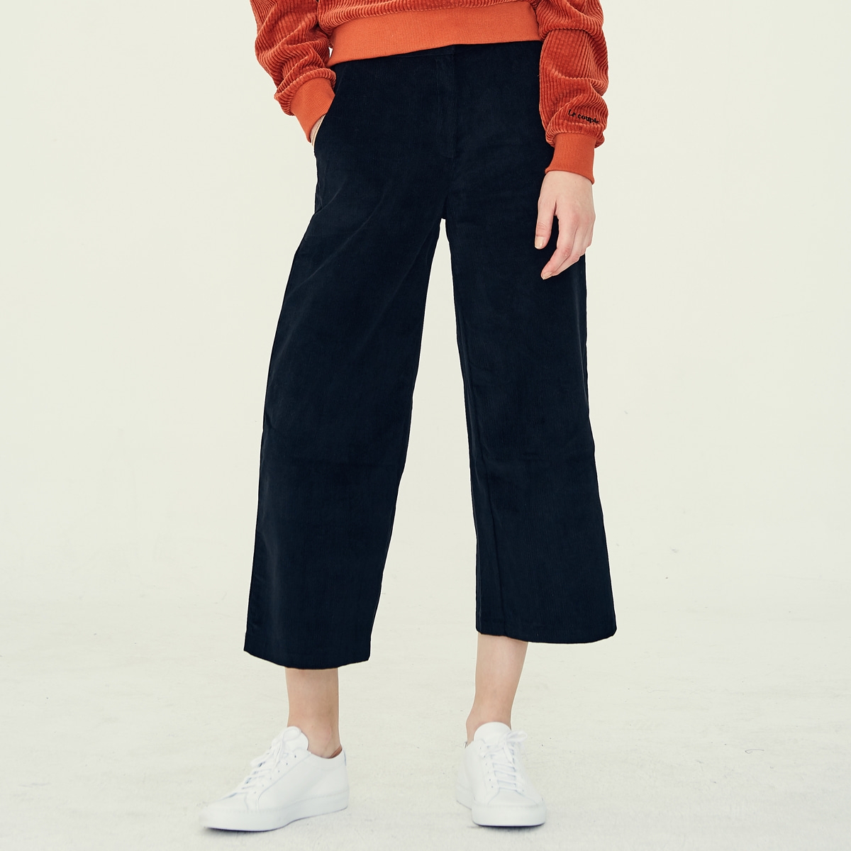 LE CROPPED PANTS(BLACK)