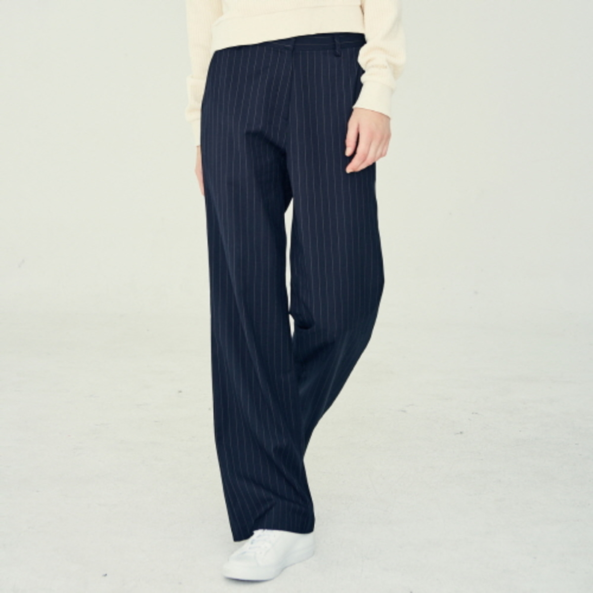 LE LONG SLACKS(NAVY)