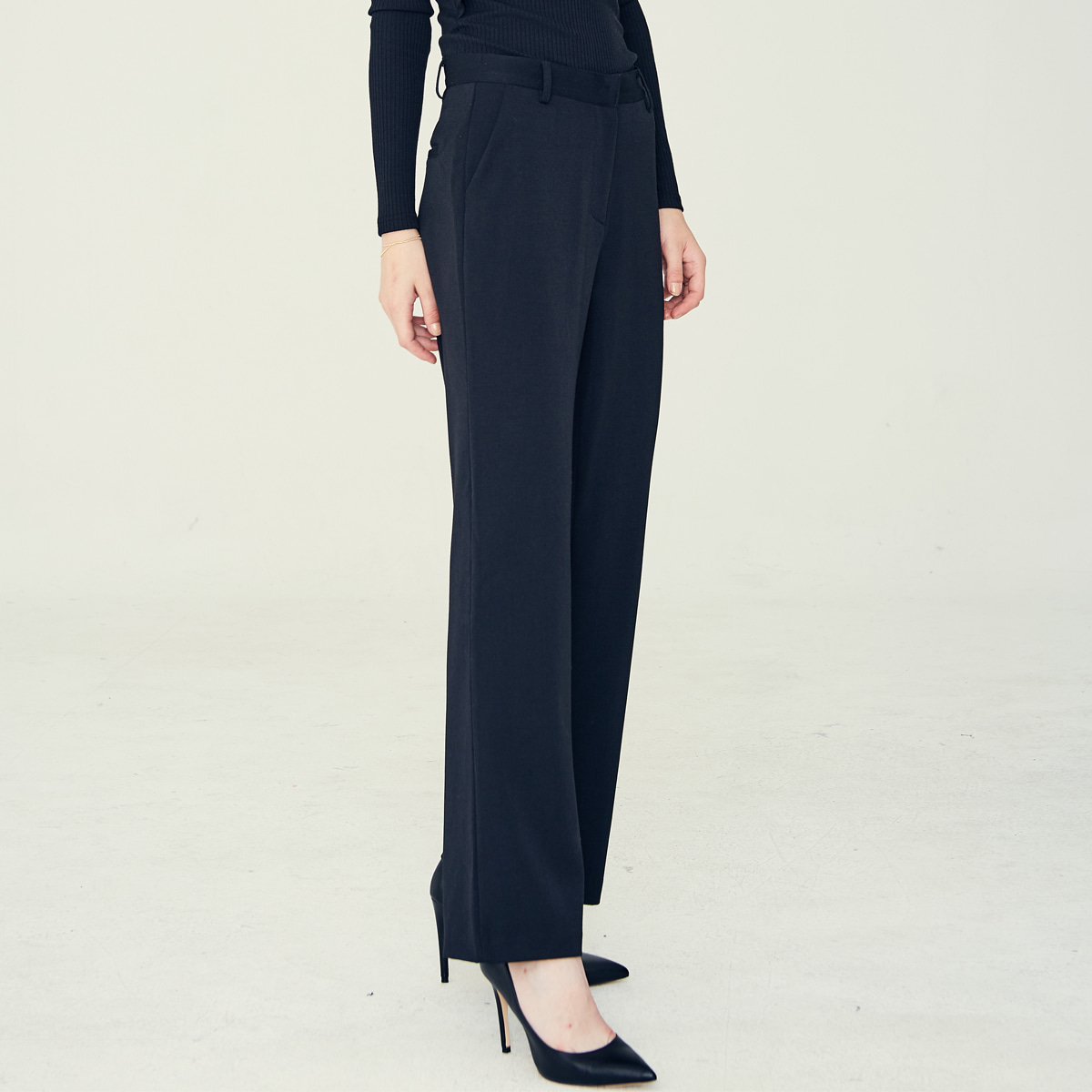 LE LONG SLACKS(BLACK)