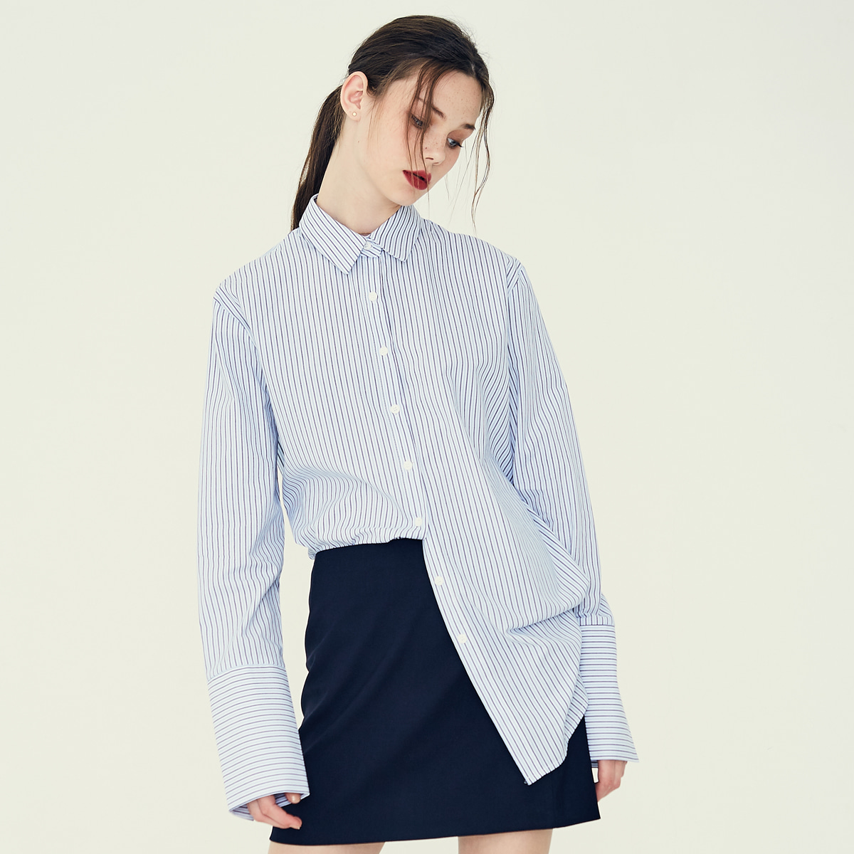 LE OVERSIZED SHIRT(SKY BLUE)