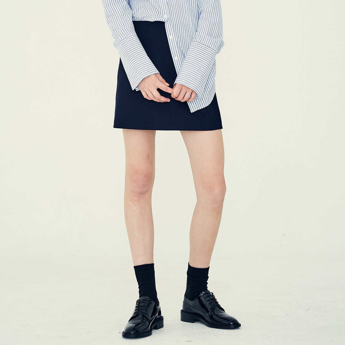LE MINI SKIRT(NAVY)