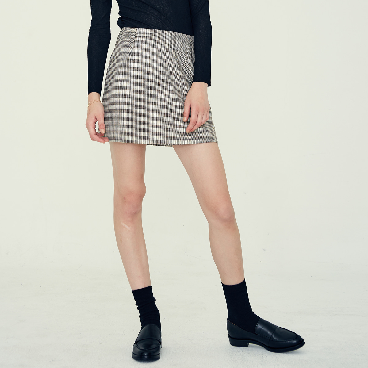 LE MINI SKIRT(BEIGE)