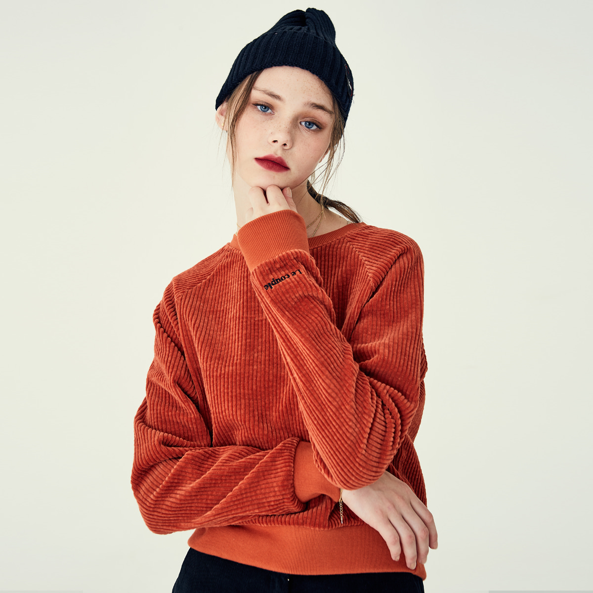 LE CORDU SWEATSHIRT(ORANGE)