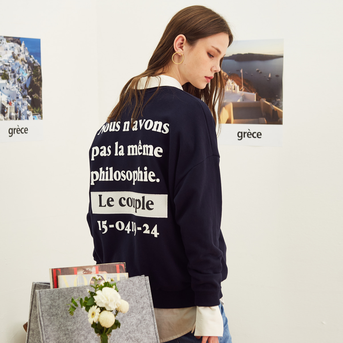 LE COUPLE SWEATSHIRT(NAVY)