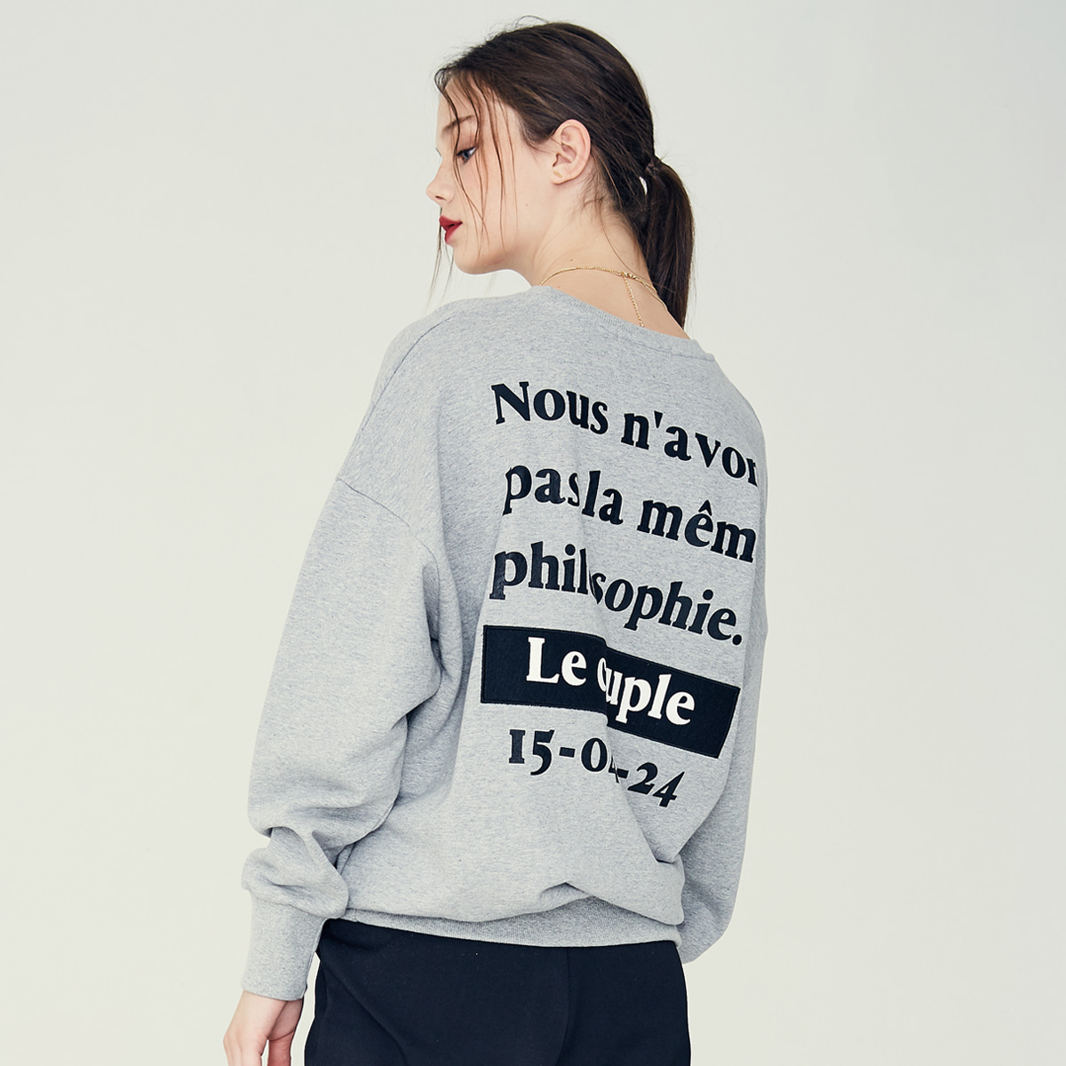 LE COUPLE SWEATSHIRT(GRAY)