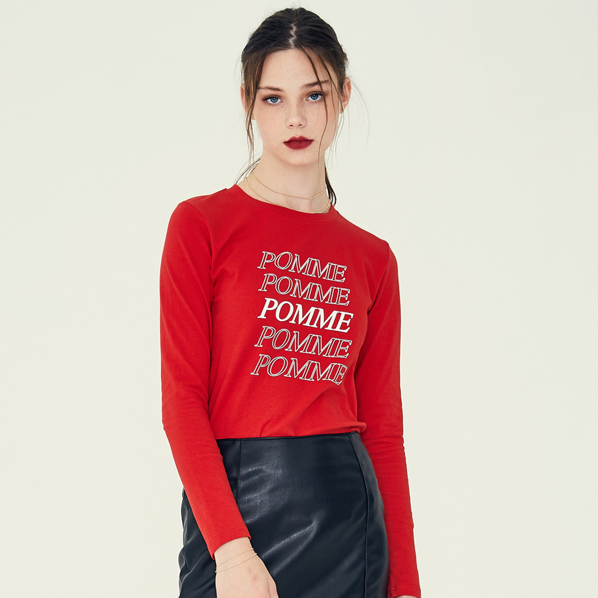 LE POMME T-SHIRT(RED)