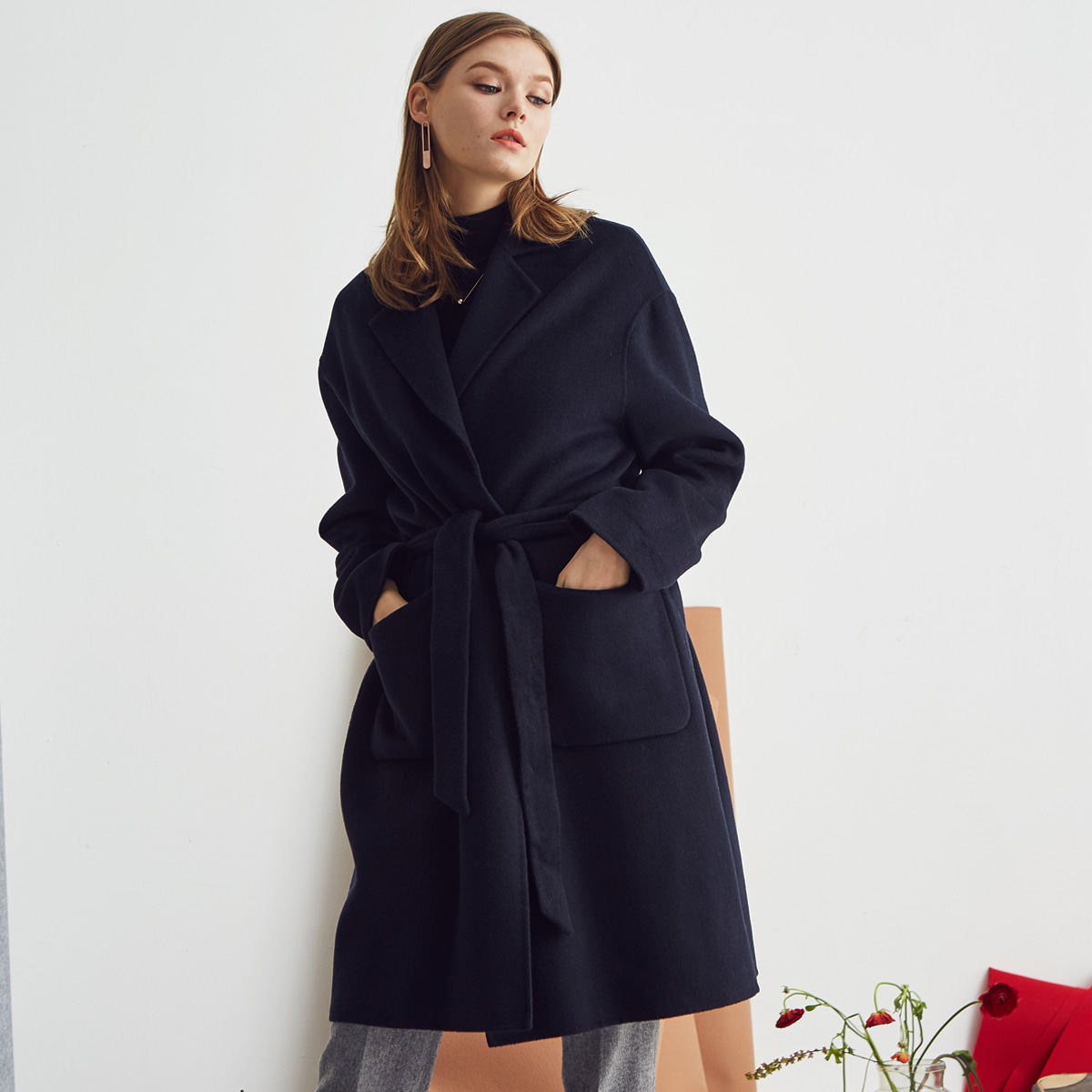 L S HANDMADE COAT(NAVY)