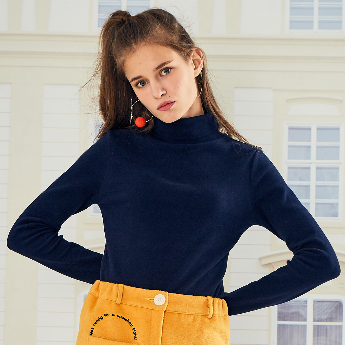 LO LOGO TURTLENECK(NAVY)