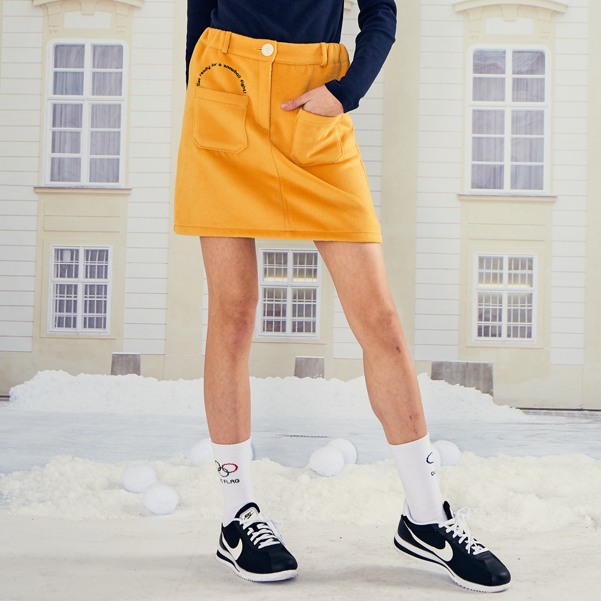 LO BUCKET SKIRT(YELLOW)