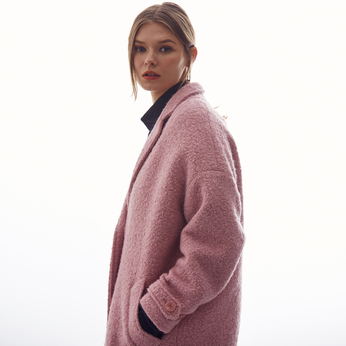 LA BUTTON COAT(PINK)