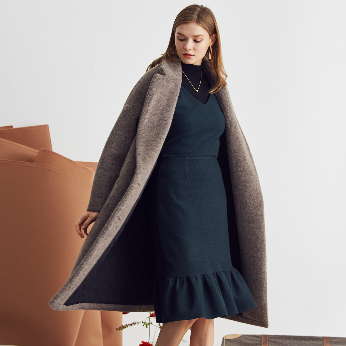 LA DOUBLE COAT(BROWN)