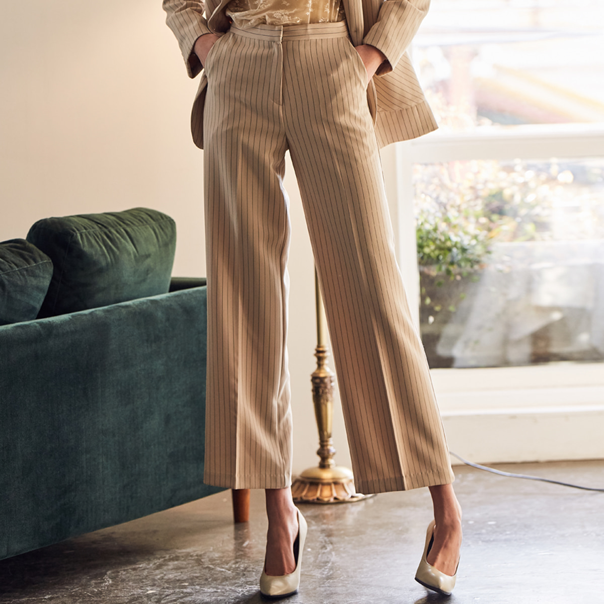 LS SET PANTS(IVORY)