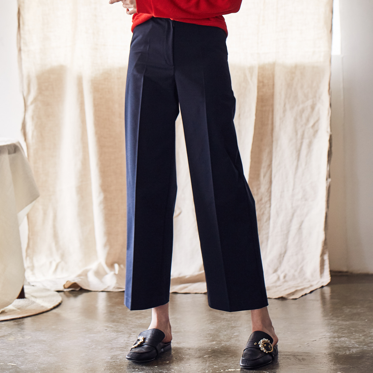 LS HIGHRISE PANTS(NAVY)