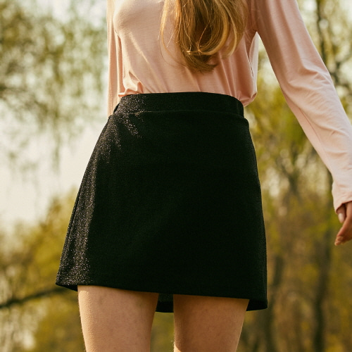 18SP GLITTER SKIRT(BLACK)