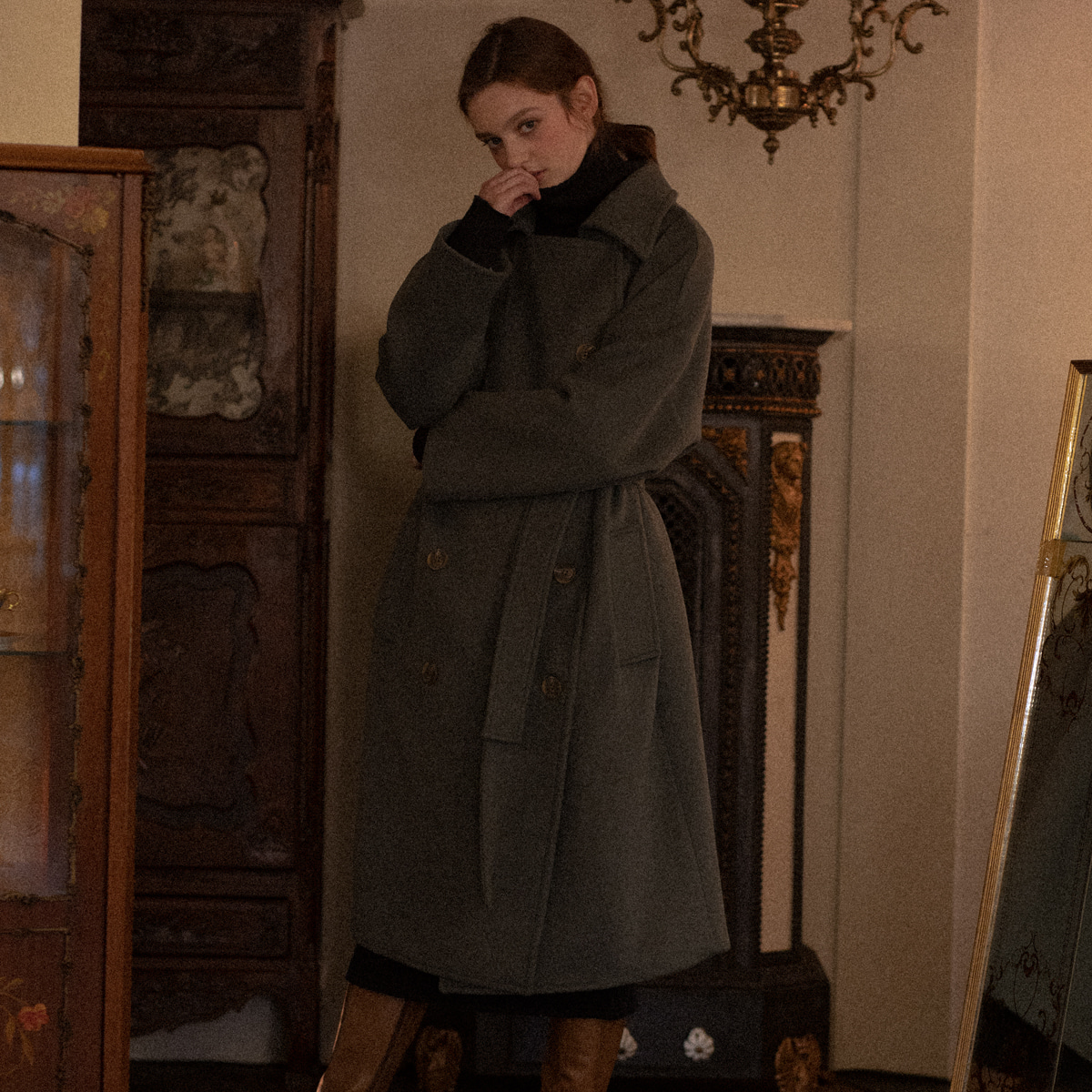 LV OVERSIZED COAT(GREEN)
